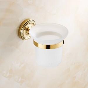金真鍮の浴室の付属品のトイレ用ブラシホルダー衛生陶器の壁に取り付けられた7008 G