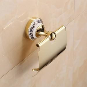 金のステンレス鋼のペーパーホールダーの壁に取り付けられた浴室の付属品ハードウェア7002GSP