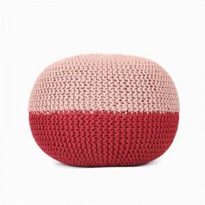 手編みのオスマン風プーフ快適なフットレスト&スツール手編みの床用フットスツール