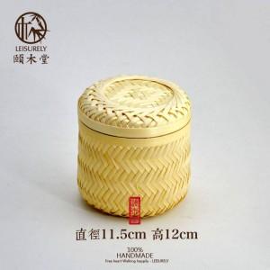 手作り竹竹収納タンク茶収納タンク高品質ドライフルーツスナック竹バスケット収納ボックス収納キャップ瓶