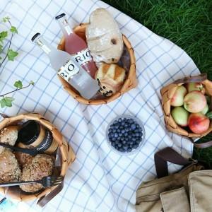 手作りの木製織バスケットバスケットフルーツパン卵食品収納キャンプピクニックスナックコンテナキッチン収納バッグ