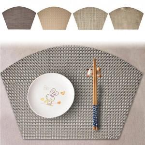 断熱食器マット多機能扇形食器パッド効果的な断熱パッド非フェード食器マット
