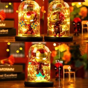 ヒーロークモledテーブルランプマーベルスーパーアイアンマンハルクデッドプールledランプナイトライト多色クリスマスの装飾子供ギフトおもちゃ