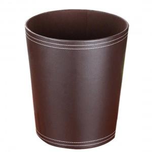 高品質ラウンド形状単色puゴミ箱ゴミ箱紙バスケットゴミ箱ダストケースホルダーゴミ箱ゴミ箱