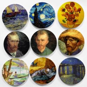 オランダの有名な画家ヴィンセントウィレムヴァンゴッホ絵画壁掛け装飾プレート印象派スタイル用ホームデコレーション