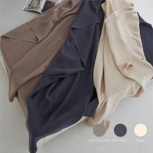 ハニカム空気層タオル毛布ダブルソファビーチ固体投球毛布高級コベルターダブル毛布用ベッド3色