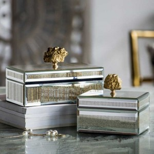 InsFashionクリエイティブな手作りクリエイティブジュエリーボックス、モダンなデラックスな家の装飾