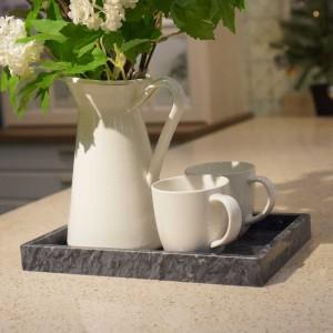 InsFashionのelegentおよび優れた長方形の和風の家の装飾および管理されたポーズの使用のための自然な大理石の皿