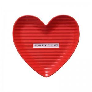 InsFashion素敵な赤とピンクのハート型の母の日ギフトセットのためのセラミックジュエリーディッシュ