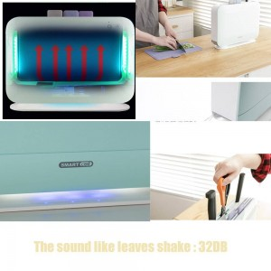 Iriver BLANK UV電気インデックスチョッピングボード消毒キッチンナイフ消毒機、3本用まな板セット家庭用