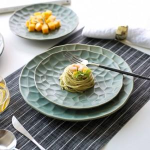 日本のクリエイティブセラミック食器プレートキッチン皿アート西洋料理ステーキプレート