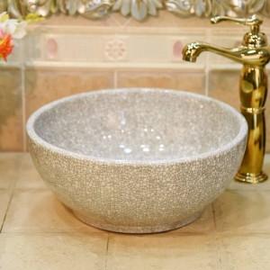 セラミックグリーンクラック小30センチ洗面台シンク浴室のシンクボウルカウンターセラミック洗面台ミニ
