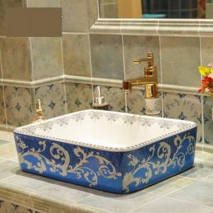 セラミック洗面台セラミック浴室洗面台手洗いボウルlavaboシンクバスルームシンクボウルボウル