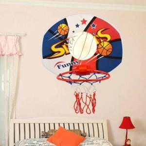 幼稚園バスケットボールランプ壁照明器具用ダイニングルーム子供の寝室ランプ子供部屋ネット壁ランプガラス壁取り付け用燭台