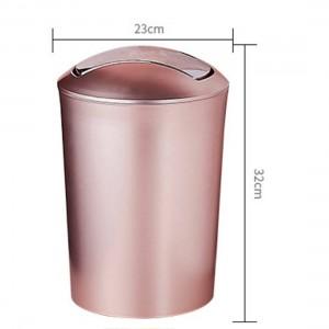 大容量10Lヨーロッパスタイルの耐久性のあるゴミ箱プラスチック製のゴミ箱のふた付きバスルームキッチンゴミ箱用品