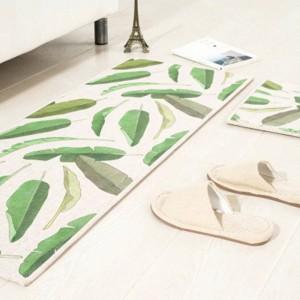葉のパターンマットスクエアクッションキッチンドアパッド浴室滑り止め取り外しほこりドアマットコーヒーテーブルカーペット寝具マット敷物
