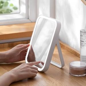 LEDライト化粧鏡ホームデスクトップ充電式化粧台ミラーデスクトップ折りたたみミラー付きライトwx11271135