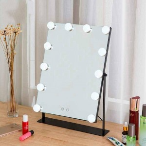 Led化粧鏡女の子ホワイトデスクトップ大型化粧台ミラーライトタッチ塗りつぶし光寮化粧鏡mx01111356