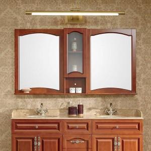 銅ミラーヘッドライトアメリカンバスルームLEDキャビネットランプ北欧化粧ハングランプホームデコ壁取り付け用燭台照明器具
