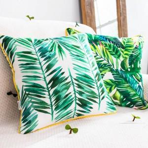 高級ブランドクッションカバー熱帯植物葉フラミンゴ装飾枕ケースalmofadas cojinesソファホームカーカバー
