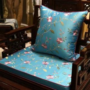 高級チャーム刺繍クッションカバーつる咲くデザインCapa de dlmofadaソファ車の寝具装飾植物投げ枕ケース