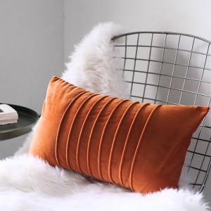 高級ベルベットクッションカバー寛大なストライプ装飾枕ケースalmofadas cojinesソファモデルルームエッセンシャルカーカバー