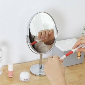 化粧鏡デスクトップラウンドオーバルテーブルミラーシンプルな女性家庭用金属両面化粧台ミラーwx 828 1449