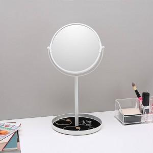 化粧鏡デスクトップシンプルダブルフェイスミラー拡大6.5インチドレッシングテーブルミラー付きジュエリー収納ベースwx 8161502