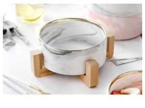 大理石竹棚砂プルグレーボウル洋風フルーツボウルデザートボウル洋風食品サラダセラミックス食器