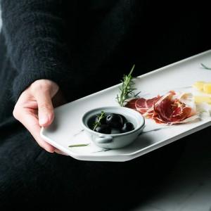 大理石セラミックスオフィス収納プレート流行ミニマリストライトカラーオクタゴンデスク雑貨ジュエリー食品収納トレイオーガナイザーホーム
