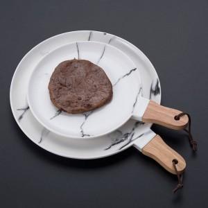 大理石の陶器ステーキ皿ヨーロッパ風フルーツサラダ洋食フラットプレートデザートサークル皿プレートセット