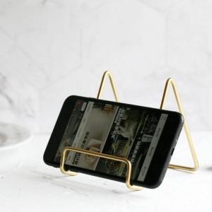 メタルゴールド収納棚流行現代ホルダー北欧鉄デスク雑貨携帯電話収納ホルダー用パッドオーガナイザーホーム