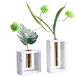 金属大理石の花瓶新しい家の装飾装飾クリエイティブソフトホームアクセサリー
