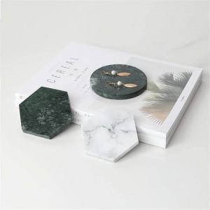 ミニマリスト大理石柄オフィステーブル収納プレートジオメトリシックスカンジナビア北欧セラミックデスク収納トレイオーガナイザー装飾