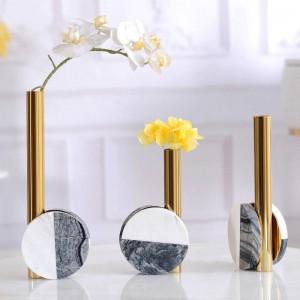 モデルルーム装飾ライト高級クリエイティブデスクトップメタル大理石の花現代ミニマリストホームモデルルームの装飾