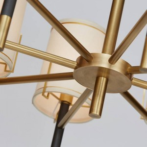 現代の8ヘッドペンダントライトクリエイティブE14 3ワットled電球ledドロップライトリビングホーム照明器具店シンプルなスタイル