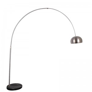 現代の釣りフロアランプステンレス鋼クロムランプシェードフロアランプリビングルーム読書寝室オフィススタンディングランプE27電球