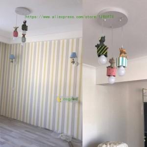 現代の子供部屋ledアメリカンキッズランプ男の子女の子漫画寝室ランプE27ペンダントライト照明クリスマスデコレーション