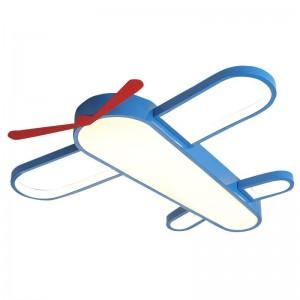 現代のledシーリングライト用ホームベッドルーム子供男の子女の子漫画航空機シーリングライト付きリモート調光シーリングランプ