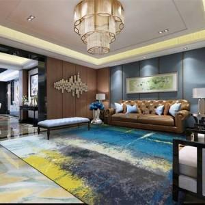 モダンなミニマリスト抽象カーペットリビングルームのコーヒーテーブルの寝室のカーペット北欧長方形カスタムカーペット