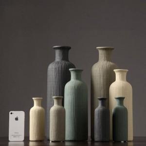 現代のミニマリストセラミック花瓶ファッションフラワーアレンジメントホームデコレーションリビングルームベジタリアン花瓶装飾