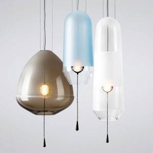 モダンでシンプルなカラフルなガラスLEDペンダントライトホワイエレストランガラスバブルライト高級LEDペンダントランプ照明器具