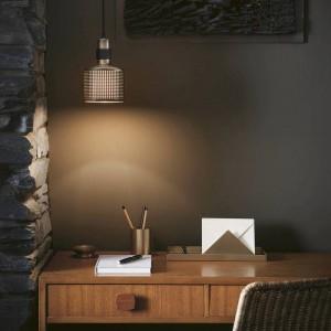 現代のシンプルなLEDペンダントライトゴールドメタルランプシェードハングランプE27 3W LEDランプホルダーノドリックつりランプ