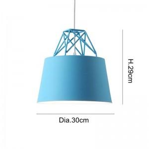 モダンなシンプルな北欧のマカロンペンダントライトカラフルなダイニングルームバーのベッドルームベッドサイドのコーヒーハウスクリエイティブLEDドロップライト