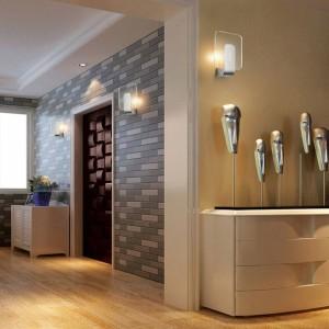 現代の壁クリアledライト照明器具ステンレス鋼6ワットledランプ現代浴室キャビネットミラーランプ壁ランプベッドサイドランプ
