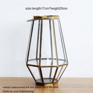 新古典主義のキャンドルホルダーガラスキャンドルライトディナーナイトライト風ライトアロマキャンドルベース家庭用装飾工芸品