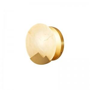 新しい古典的な大理石の壁ランプメッキ金属ゴールド壁掛けライトホームホワイエ廊下照明led壁取り付け用燭台