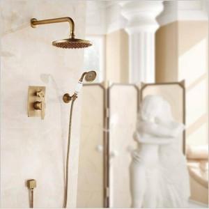 """新しい隠されたシャワーの蛇口セットシングルハンドル8 """"セラミック真鍮ハンドシャワー付き降雨量シャワーミキサーLAD-314"""