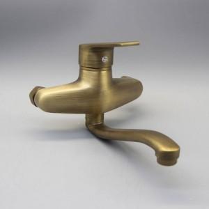 シャワー蛇口アンティーク真鍮浴室の蛇口シャワーヘッド壁掛けのみ浴槽の蛇口ミキサータップXT397