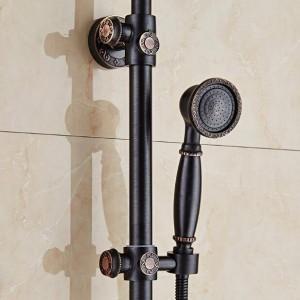 シャワーの蛇口オイル黒浴室のシャワーセット壁掛けハンド真鍮シャワーヘッドシャワーセットXT 394